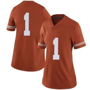 Andrew Jones Nike Texas Longhorns Women's Limited Women Football College Jersey - Orange