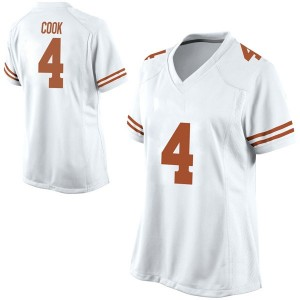 Anthony Cook Nike Texas Longhorns Women's Replica Football College Jersey - White