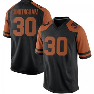 Brock Cunningham Nike Texas Longhorns Men's Replica Mens Football College Jersey - Black