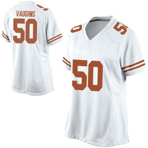 Byron Vaughns Nike Texas Longhorns Women's Game Football College Jersey - White
