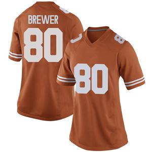 Cade Brewer Nike Texas Longhorns Women's Replica Women Football College Jersey - Orange