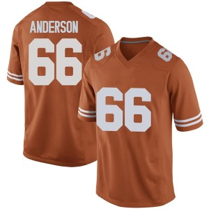 Calvin Anderson Nike Texas Longhorns Men's Replica Mens Football College Jersey - Orange