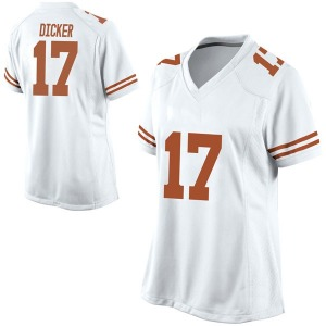 Cameron Dicker Nike Texas Longhorns Women's Game Football College Jersey - White