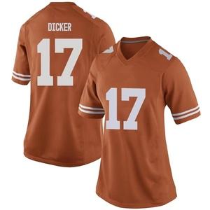 Cameron Dicker Nike Texas Longhorns Women's Replica Women Football College Jersey - Orange