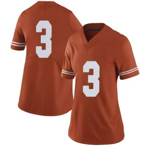 Cameron Rising Nike Texas Longhorns Women's Limited Women Football College Jersey - Orange