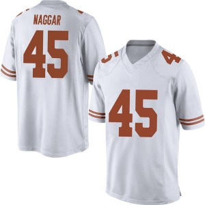 Chris Naggar Nike Texas Longhorns Men's Replica Mens Football College Jersey - White