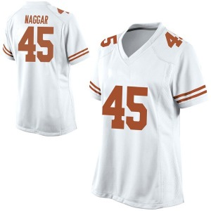 Chris Naggar Nike Texas Longhorns Women's Replica Football College Jersey - White