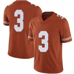 Courtney Ramey Nike Texas Longhorns Men's Limited Mens Football College Jersey - Orange