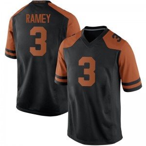 Courtney Ramey Nike Texas Longhorns Men's Replica Mens Football College Jersey - Black