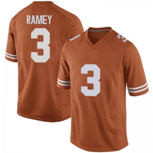 Courtney Ramey Nike Texas Longhorns Men's Replica Mens Football College Jersey - Orange