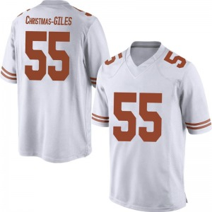 D'Andre Christmas-Giles Nike Texas Longhorns Men's Replica Mens Football College Jersey - White