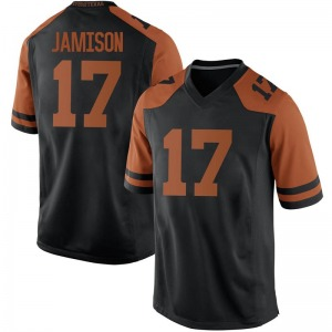 D'Shawn Jamison Nike Texas Longhorns Men's Replica Mens Football College Jersey - Black