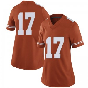 D'Shawn Jamison Nike Texas Longhorns Women's Limited Women Football College Jersey - Orange