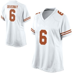 Devin Duvernay Nike Texas Longhorns Women's Game Football College Jersey - White