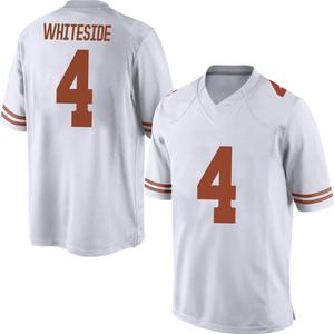Drayton Whiteside Nike Texas Longhorns Men's Game Mens Football College Jersey - White