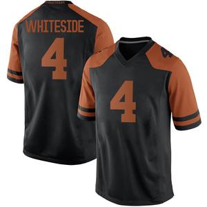 Drayton Whiteside Texas Longhorns Men's Replica Mens Black Football College Jersey - White