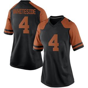 Drayton Whiteside Nike Texas Longhorns Women's Game Women Black Football College Jersey - White