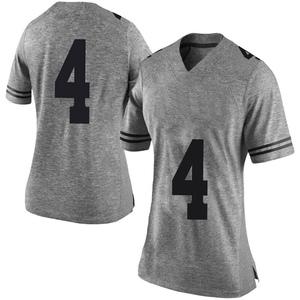 Drayton Whiteside Nike Texas Longhorns Women's Limited Women Gray Football College Jersey - White