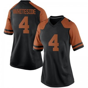 Drayton Whiteside Nike Texas Longhorns Women's Replica Women Black Football College Jersey - White