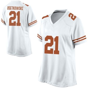 Dylan Osetkowski Nike Texas Longhorns Women's Replica Football College Jersey - White