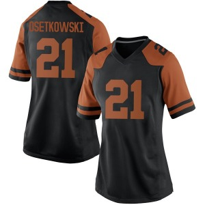 Dylan Osetkowski Nike Texas Longhorns Women's Replica Women Football College Jersey - Black
