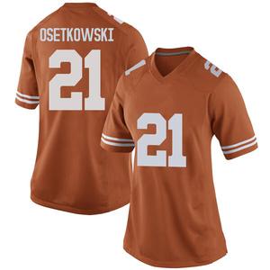 Dylan Osetkowski Nike Texas Longhorns Women's Replica Women Football College Jersey - Orange