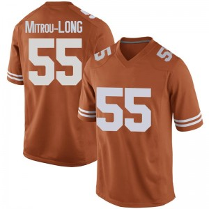 Elijah Mitrou-Long Nike Texas Longhorns Men's Replica Mens Football College Jersey - Orange