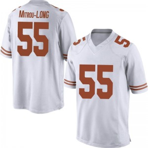 Elijah Mitrou-Long Nike Texas Longhorns Men's Replica Mens Football College Jersey - White