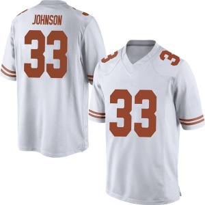 Gary Johnson Nike Texas Longhorns Men's Replica Mens Football College Jersey - White