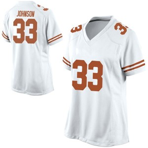 Gary Johnson Nike Texas Longhorns Women's Game Football College Jersey - White