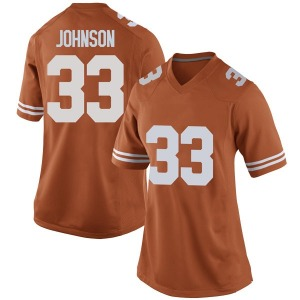 Gary Johnson Nike Texas Longhorns Women's Game Women Football College Jersey - Orange