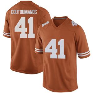Hank Coutoumanos Nike Texas Longhorns Men's Game Mens Football College Jersey - Orange