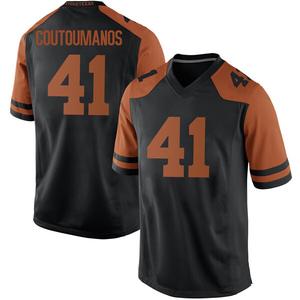 Hank Coutoumanos Nike Texas Longhorns Men's Replica Mens Football College Jersey - Black