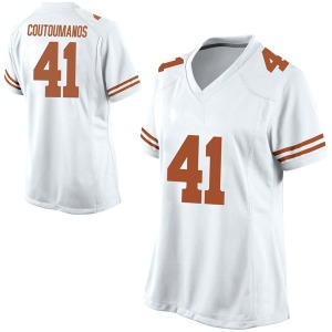Hank Coutoumanos Nike Texas Longhorns Women's Game Football College Jersey - White