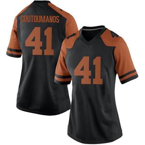Hank Coutoumanos Nike Texas Longhorns Women's Replica Women Football College Jersey - Black