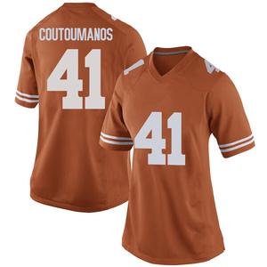 Hank Coutoumanos Nike Texas Longhorns Women's Replica Women Football College Jersey - Orange
