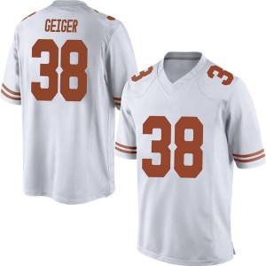 Jack Geiger Nike Texas Longhorns Men's Game Mens Football College Jersey - White