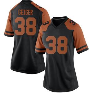 Jack Geiger Nike Texas Longhorns Women's Game Women Football College Jersey - Black