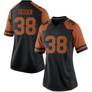 Jack Geiger Nike Texas Longhorns Women's Replica Women Football College Jersey - Black