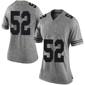 Jackson Hanna Nike Texas Longhorns Women's Limited Women Football College Jersey - Gray