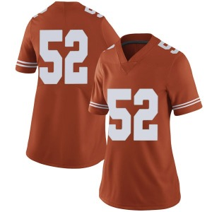 Jackson Hanna Nike Texas Longhorns Women's Limited Women Football College Jersey - Orange