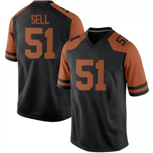 Jakob Sell Texas Longhorns Men's Replica Mens Football College Jersey - Black