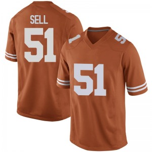 Jakob Sell Texas Longhorns Men's Replica Mens Football College Jersey - Orange