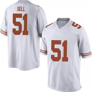 Jakob Sell Nike Texas Longhorns Men's Replica Mens Football College Jersey - White