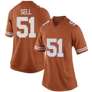 Jakob Sell Nike Texas Longhorns Women's Replica Women Football College Jersey - Orange