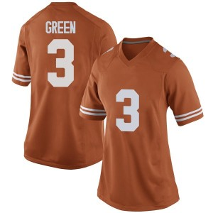 Jalen Green Nike Texas Longhorns Women's Game Women Football College Jersey - Orange