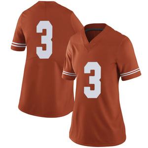 Jalen Green Nike Texas Longhorns Women's Limited Women Football College Jersey - Orange