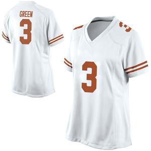 Jalen Green Nike Texas Longhorns Women's Replica Football College Jersey - White