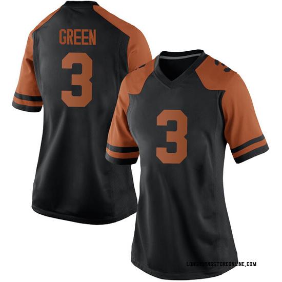 Jalen Green Nike Texas Longhorns Women's Replica Women Black Football College Jersey - Green