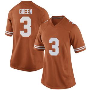 Jalen Green Nike Texas Longhorns Women's Replica Women Football College Jersey - Orange